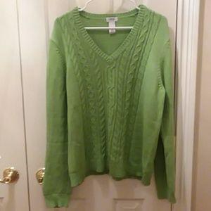 Izod lime green sweater sz XL
